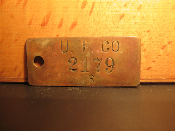 UFCO Brass Inventory Tag 2179