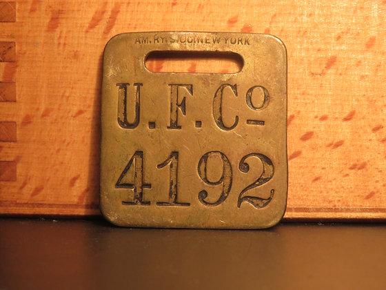 UFCO Brass Luggage Tag F4192
