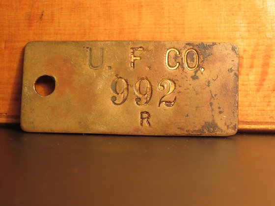 UFCO Brass Inventory Tag 992