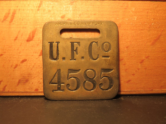 UFCO Brass Luggage Tag 4585