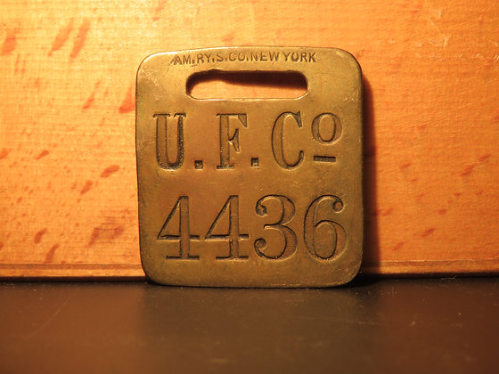 UFCO Brass Luggage Tag 4436