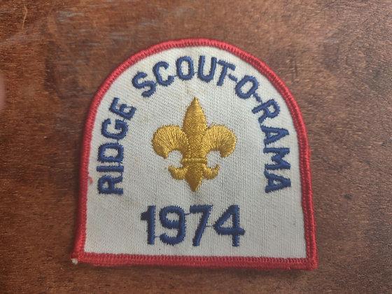 Boy Scout Ridge Scout O Rama 1974 Patch