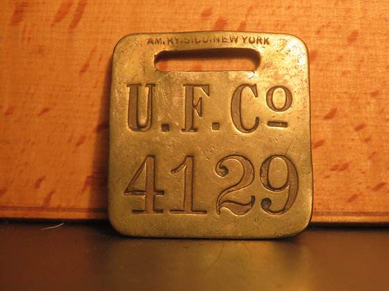 UFCO Brass Luggage Tag F4129