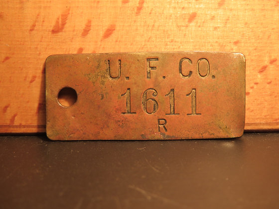 Brass Inventory Tag 1611