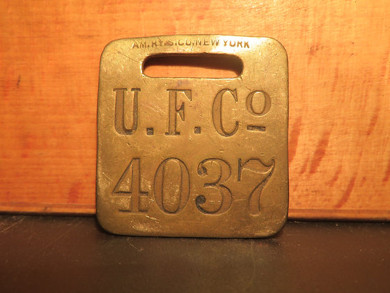 UFCO Brass Luggage Tag 4037
