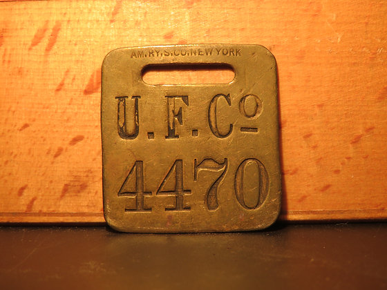 UFCO Brass Luggage Tag 4470