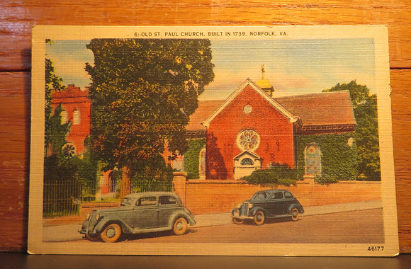 Old St. Paul Church, Built 1739.  Norfolk Virginia