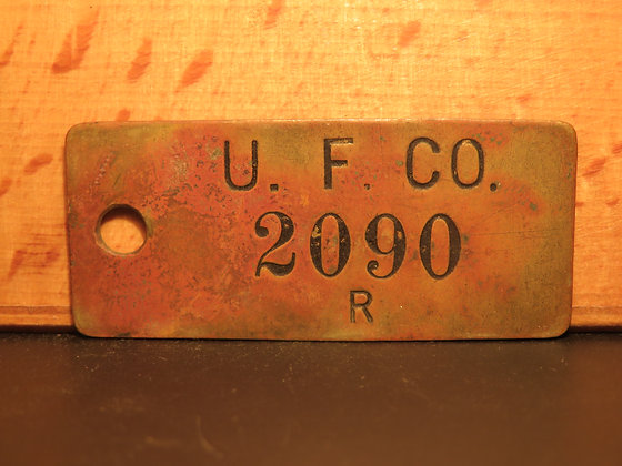 UFCO Brass Inventory Tag  2090