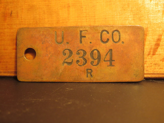 UFCO Brass Inventory Tag  2394