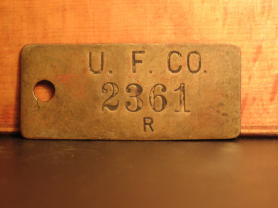UFCO Brass Inventory Tag 2361