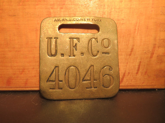 UFCO Brass Luggage Tag 4046