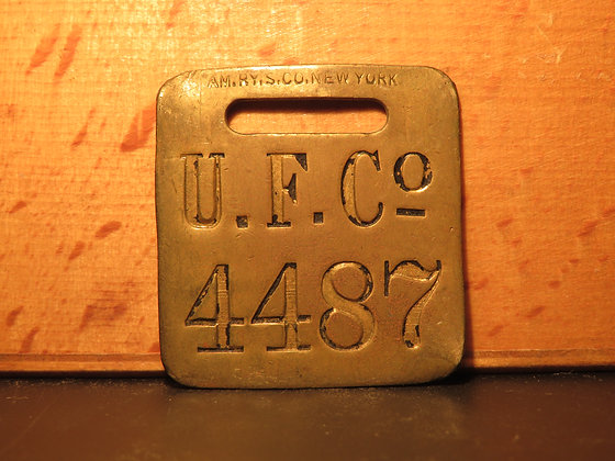 UFCO Brass Luggage Tag 4487