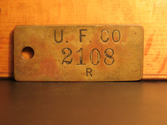 UFCO Brass Inventory Tag 2108