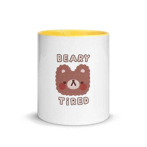 beary tired mug