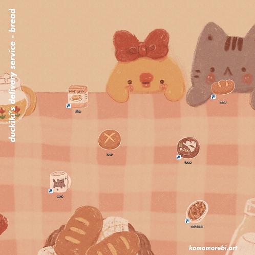 duckiki bread - wallpaper+icon set