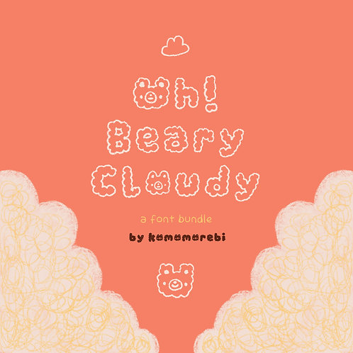 oh! beary cloudy font bundle