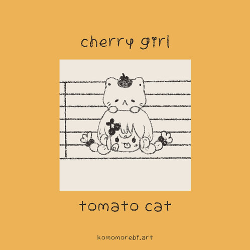 cherry tomato doodle - phone wallpaper + icons
