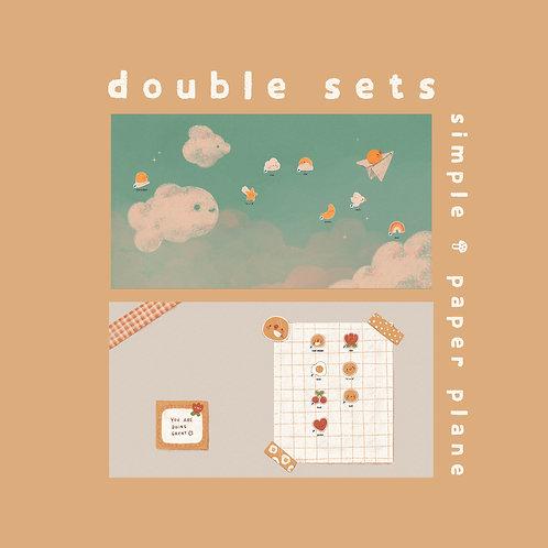 double sets - simple + paper plane