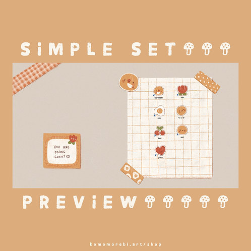 simple - wallpaper+icon set