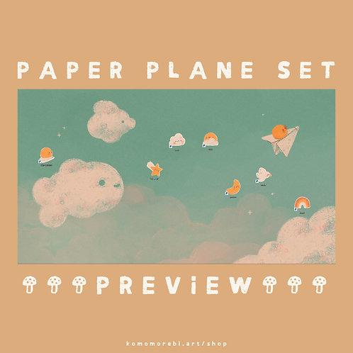 paper plane - wallpaper+icon set