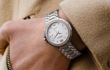 Luxus Silber Uhr