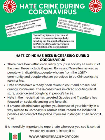 Gate Herts: GRT Hate Crime During Coronavirus