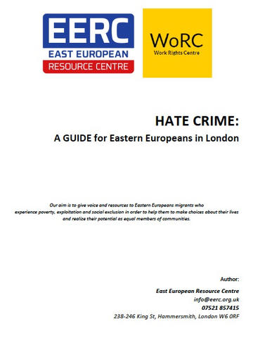 Eastern European Resource Centre & Work Right Centre: Community Guide
