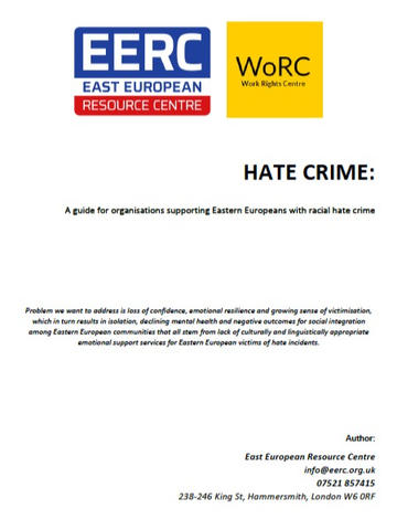 Eastern European Resource Centre & Work Right Centre: Organisation Guide