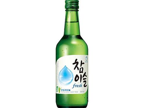진로 소주 참이슬 후레쉬 350ml alc.17.2%, soju chamisul fresh alc.17.2%