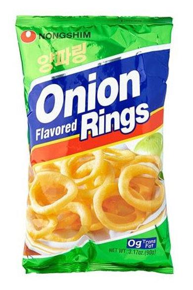 농심 양파링 90g, Yangpaling Anéis de cebola