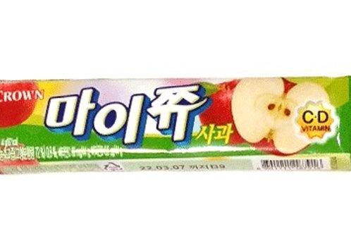 크라운 마이쮸 사과맛 44g, CROWN  My JJYU  Maçã