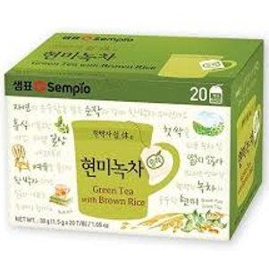 샘표 순작 현미녹차 30G(20T) Chá verde com arroz integral 1.5g*20T