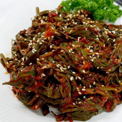 한성 고춧잎무침 1kg, folha de pimenta em conserva