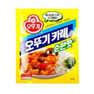 오뚜기 카레분말(순한맛) 100G, Pó curry( suave)