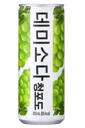 동아 데미소다 청포도맛 250ml, Demi Soda sabor uva verde