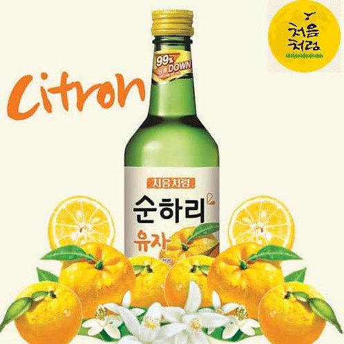 처음처럼 순하리 유자 소주 360ml, SunHaRi Yuza(asia limão) soju alc.12%