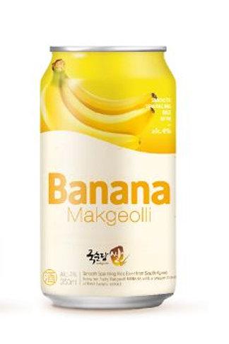 국순당 바나나 쌀막걸리 alc.4° 350ml, Macgeolli Arroz sabor Banana