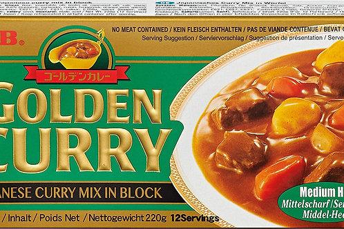 골든 카레 약간 매운맛 220g, Golden Curry Picante medio