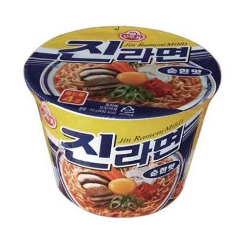 오뚜기 진라면 순한맛 큰용기 110g Jin Ramen suave (copo) 110g