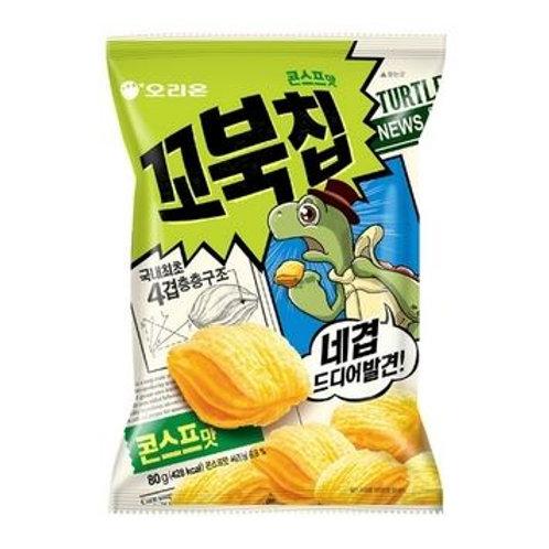 오리온꼬북칩 콘스프맛 80g, ORION Cobuk chip Sopa de Milho