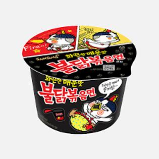 삼양 불닭볶음면(오리지날) 큰컵 105g, Ramen buldagbokkum( frango apimentado)