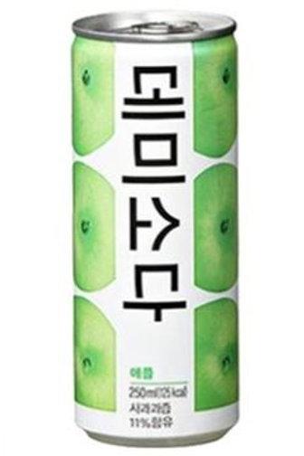 동아 데미소다 사과맛 250ml, Demi Soda maçã