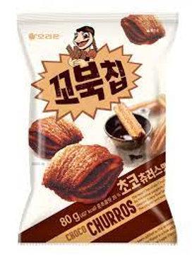 오리온 꼬북칩 초코츄러스맛 대용량160g, Cobuk chip Sabor Choco Churrus Grande