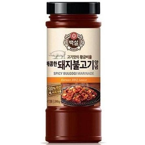 백설 매콤한 돼지불고기 양념 290g, Tempero picante de bulgogi de porco