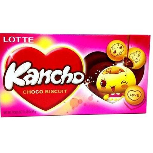 롯데 칸쵸 42g,  KANCHO biscoito de chocolate 42g