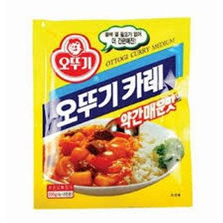 오뚜기 카레분말(약매) 100G, Pó curry pouco picante