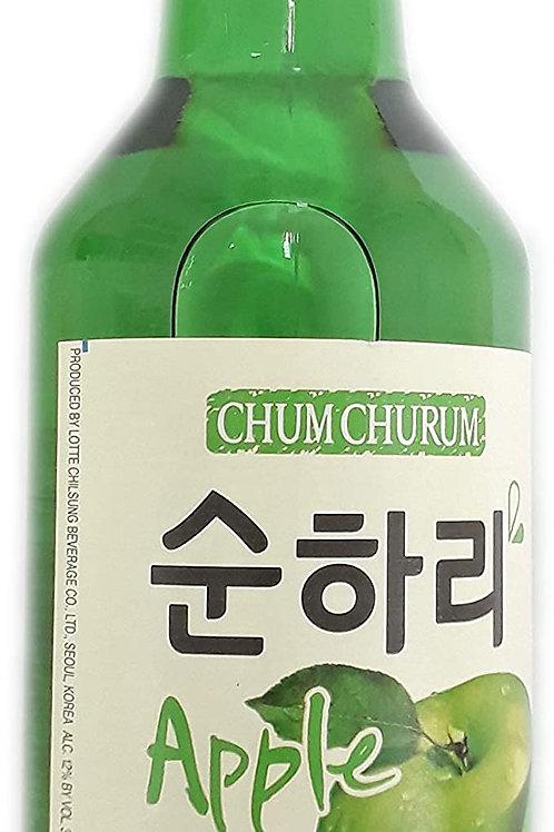 처음처럼 순하리 사과 Chum Churum SoonHari maçã