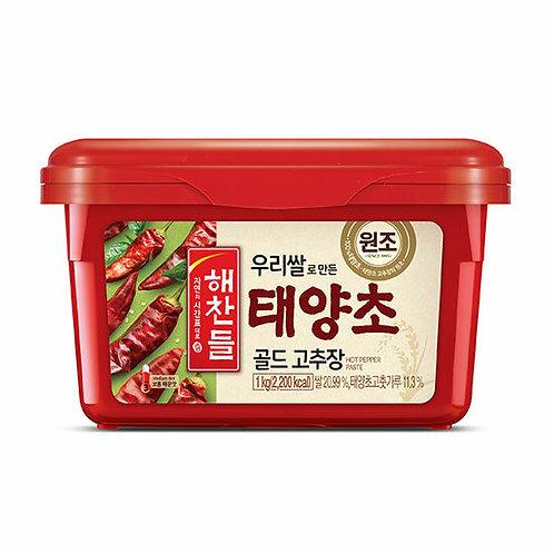 해찬들 우리쌀로 만든 태양초 골드 고추장 (내수용) 1kg, Haechandl Gochujang