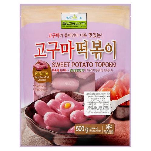 칠갑농산 고구마 떡볶이 500g , Tteokbokki com batata doce