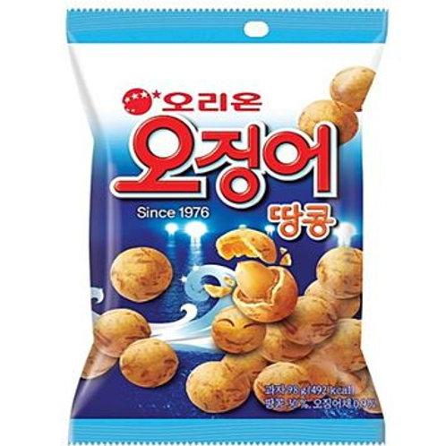 오리온 오징어 땅콩 95g, Snack Ojing-eo Tãocom